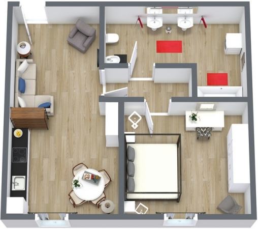 Planimetria Appartamento N.104