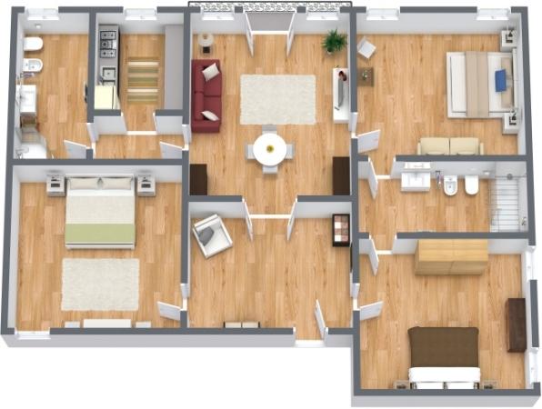 appartamento a venezia con 3 camere da letto