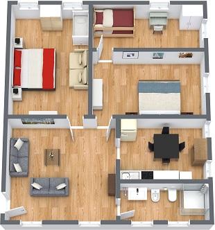 affitto appartamento venezia con 3 camere da letto