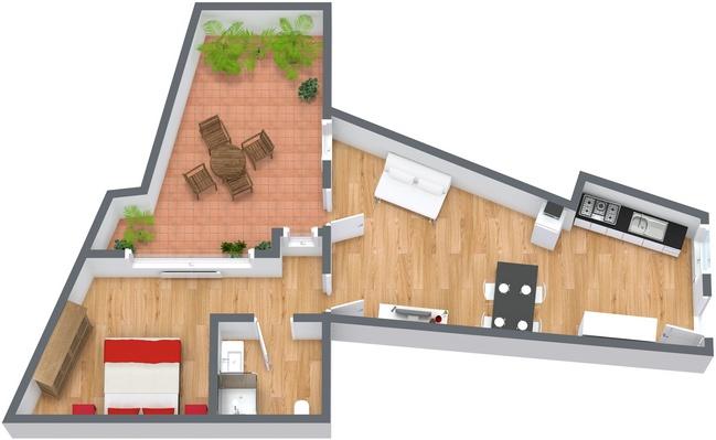 Planimetria Appartamento N.134