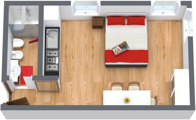 Planimetria Appartamento N.136