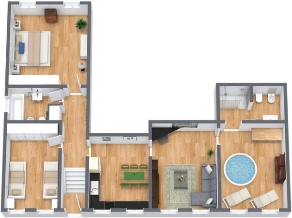 Lussuoso appartamento a venezia con minipiscina e spa for Appartamenti con planimetrie