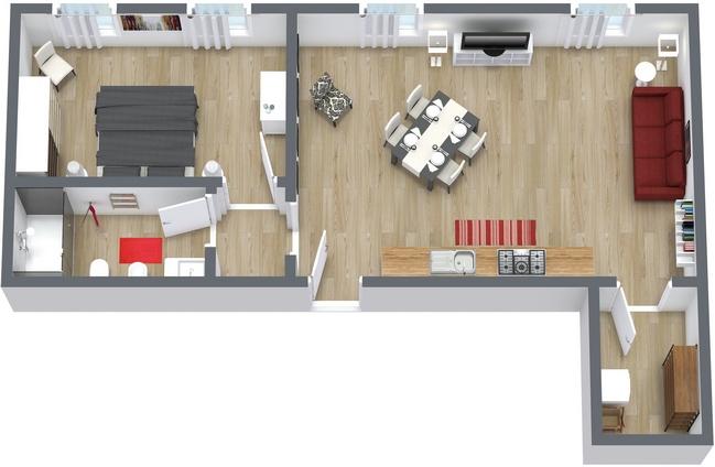 Planimetria Appartamento N.153