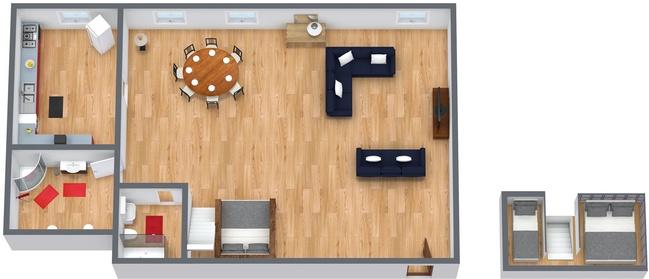 Planimetria Appartamento N.168