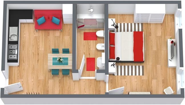 Planimetria Appartamento N.185