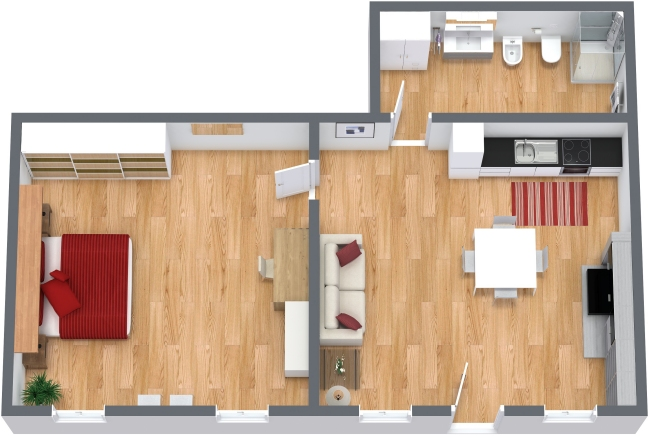 Planimetria Appartamento N.203