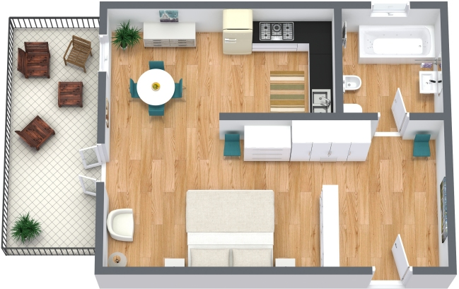 Planimetria Appartamento N.207