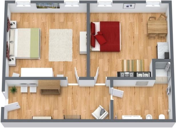 Planimetria Appartamento N.214