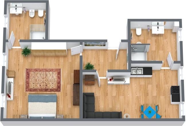 Planimetria Appartamento N.218