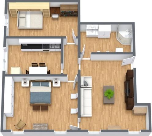 Bellissimo appartamento a venezia con 2 camere da letto for Cabina 2 camere da letto con planimetrie loft