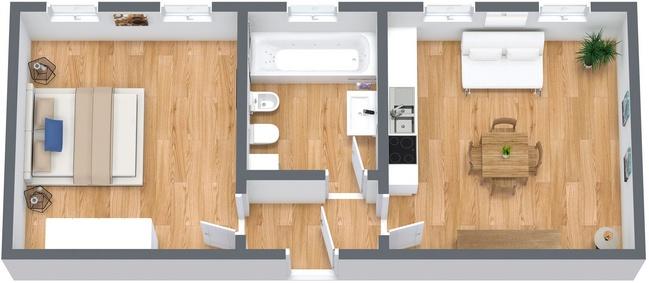 Planimetria Appartamento N.238