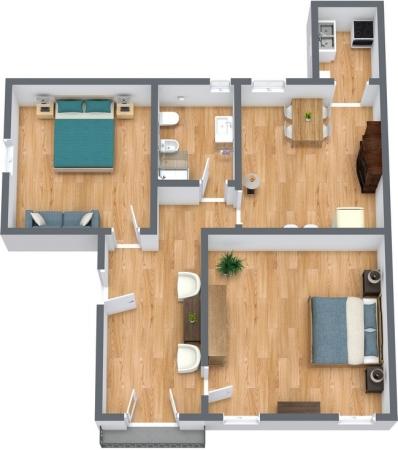 Planimetria Appartamento N.243
