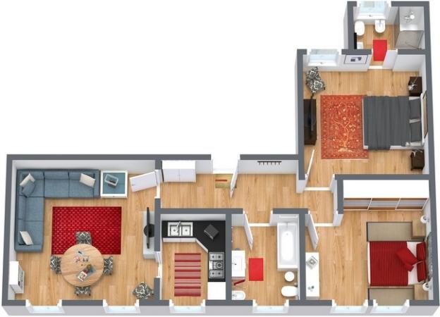 Planimetria Appartamento N.250