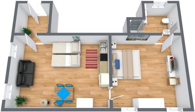 Planimetria Appartamento N.215