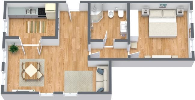 Planimetria Appartamento N.302
