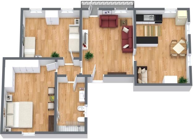 Planimetria Appartamento N.334
