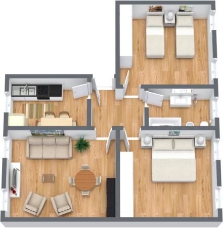 Planimetria Appartamento N.350