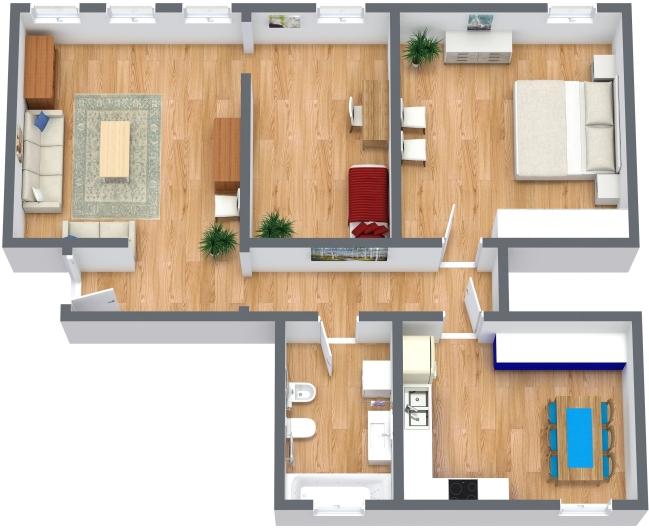 Planimetria Appartamento N.366