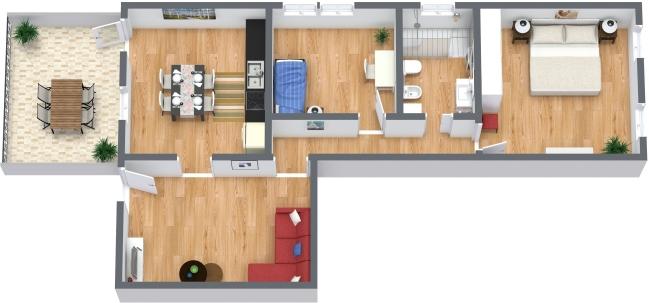 Planimetria Appartamento N.374