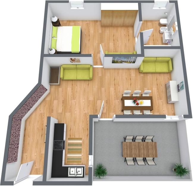Planimetria Appartamento N.383