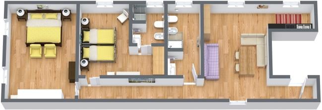 Planimetria Appartamento N.384