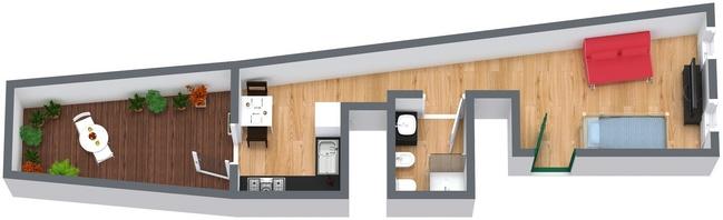 Planimetria Appartamento N.40