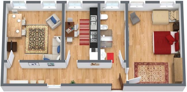Appartamento vacanze venezia appartamenti a for Planimetria appartamento