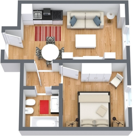 Appartamento vacanze isola giudecca appartamenti a for Piccole planimetrie di un appartamento con una camera da letto