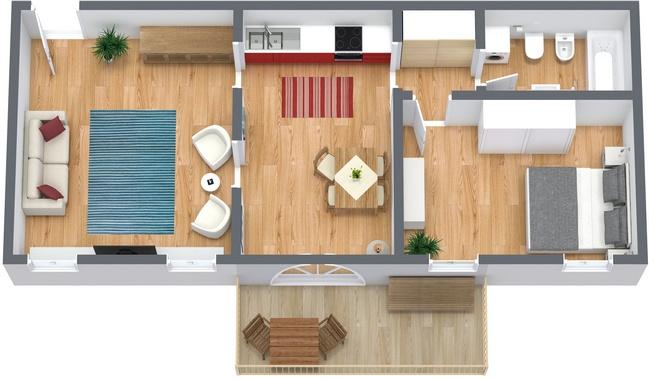Planimetria Appartamento N.63