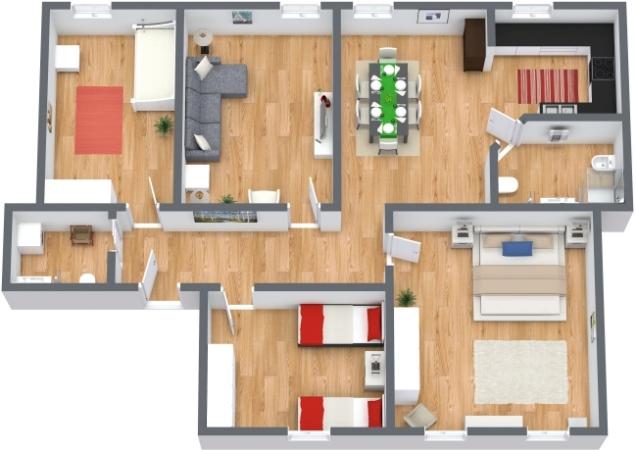 Planimetria Appartamento N.73