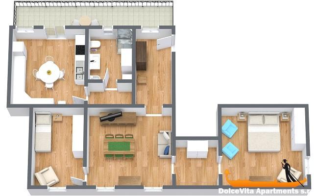 Appartamento venezia vista canale con terrazza appartamenti a - 2 camere cucina terrazzo torino ...