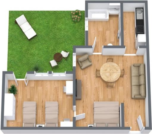 Planimetria Appartamento N.76