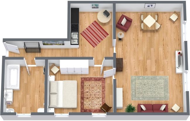 Planimetria Appartamento N.121