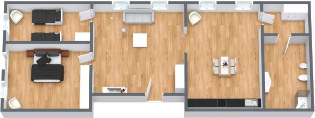 Planimetria Appartamento N.127