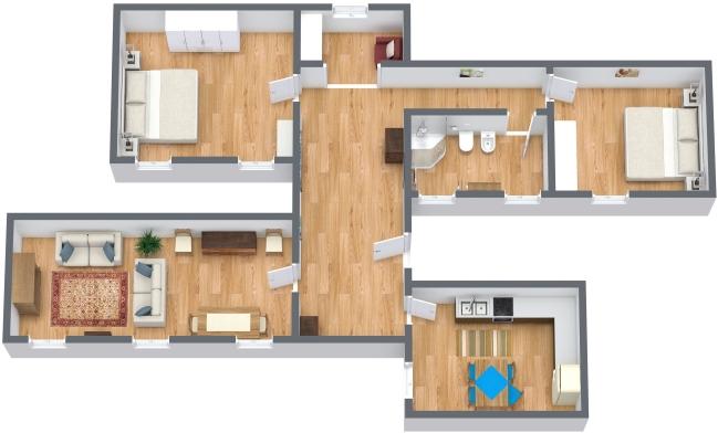 Planimetria Appartamento N.143