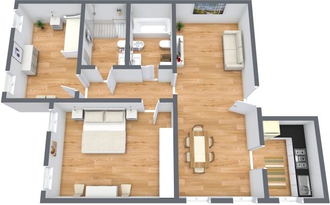 Planimetria Appartamento N.158