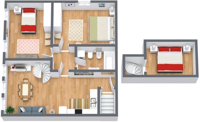 Planimetria Appartamento N.165
