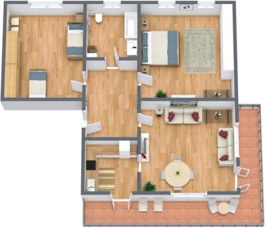 Planimetria Appartamento N.177