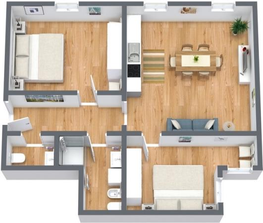 Planimetria Appartamento N.193