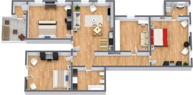 appartamento a venezia con 3 camere da letto e terrazza