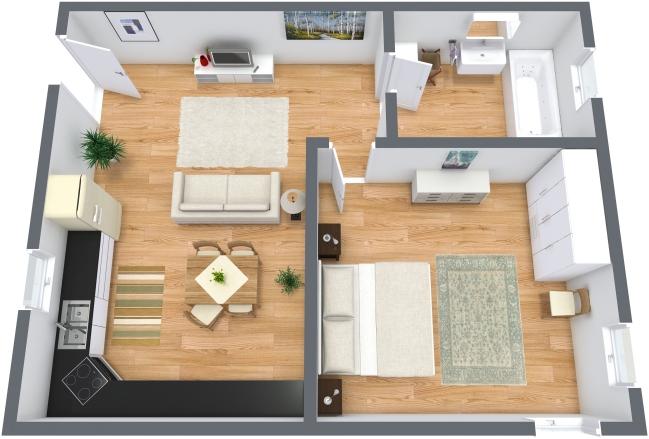 Planimetria Appartamento N.208