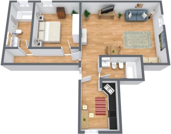 Planimetria Appartamento N.211