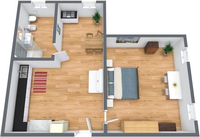 Planimetria Appartamento N.216
