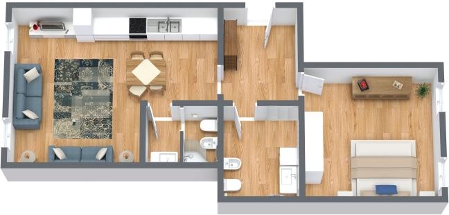 Planimetria Appartamento N.222
