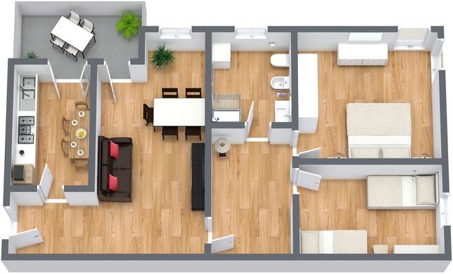 Planimetria Appartamento N.240