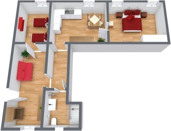 Planimetria Appartamento N.242