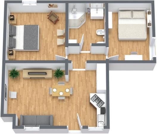 Planimetria Appartamento N.244