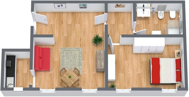 Planimetria Appartamento N.81