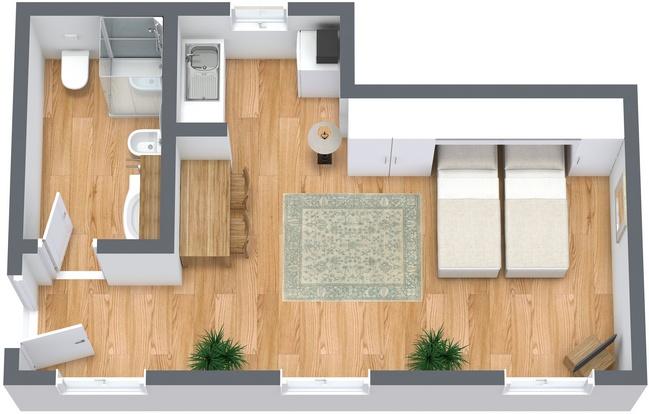 Planimetria Appartamento N.268