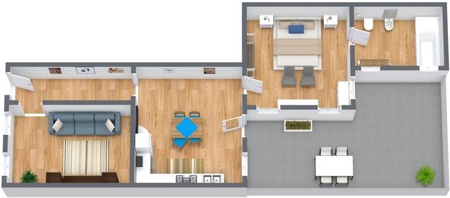 Planimetria Appartamento N.274